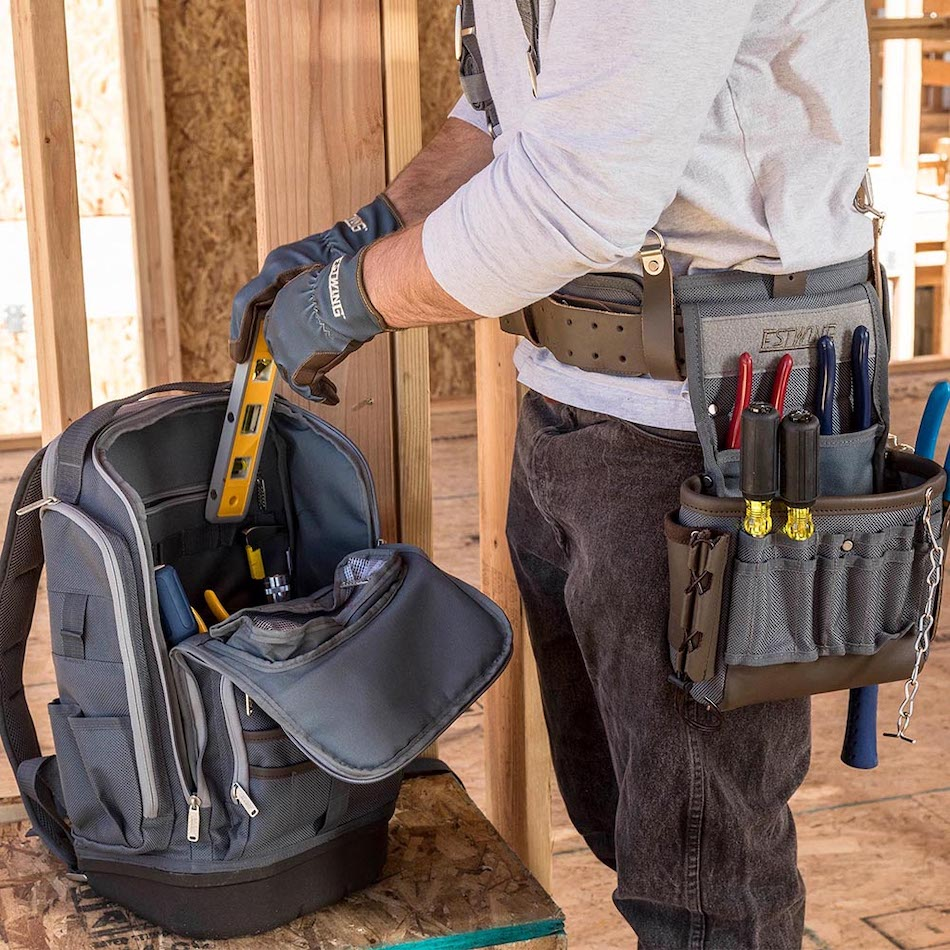 Tool storage backpack