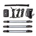 Thumbnail - 500 Lumen LED Motion Sensor 3 Piece Magnetic Light Strip Kit for Storage Racks - 11