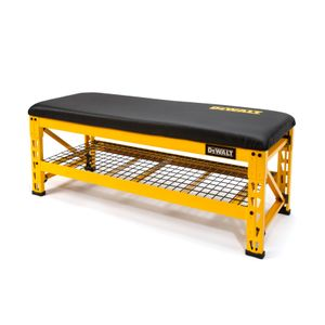 50 in Garage Bench with Wire Grid Storage Shelf