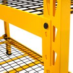 Thumbnail - 48 in H x 50 in W x 18 in D 3 Shelf Wire Deck Industrial Storage Rack - 2