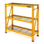 Thumbnail - 48 in H x 50 in W x 18 in D 3 Shelf Wire Deck Industrial Storage Rack - 01