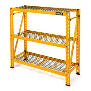 48 in H x 50 in W x 18 in D 3 Shelf Wire Deck Industrial Storage Rack