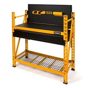 2-Shelf Industrial 4-Foot Storage Rack Work Station Kit