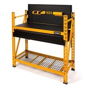 2 Shelf Industrial 4 Foot Storage Rack Work Station Kit