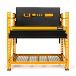 Thumbnail - 2 Shelf Industrial 4 Foot Storage Rack Work Station Kit - 11