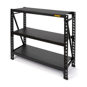 48 in. H x 50 in. W x 18 in. D 3-Shelf Black Industrial Storage Rack