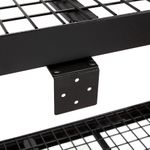 Thumbnail - 48 in H x 50 in W x 18 in D 3 Shelf Wire Deck Black Industrial Storage Rack - 51