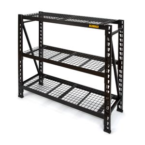 48 in. H x 50 in. W x 18 in. D 3-Shelf Wire Deck Black Industrial Storage Rack