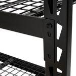 Thumbnail - 72 in H x 77 in W x 24 in D 4 Shelf Black Industrial Storage Rack - 21