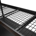 Thumbnail - 72 in H x 77 in W x 24 in D 4 Shelf Black Industrial Storage Rack - 41