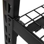 Thumbnail - 72 in H x 77 in W x 24 in D 4 Shelf Black Industrial Storage Rack - 61