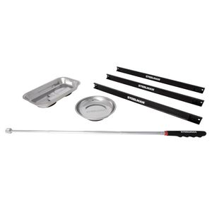 6-Piece Magnetic Parts Bowl, Holder, and Pickup Tool Set