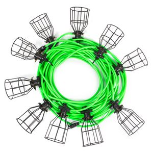 100 Foot 10 Light Heavy Duty Outdoor String Lights