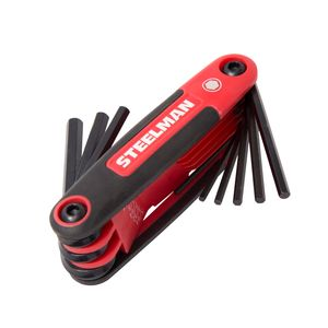 9-Piece Folding Hex Key Set, Standard (SAE-Inch)