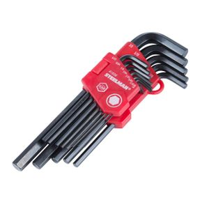 13-Piece Long Arm Hex Key Wrench Set, Inch (SAE)