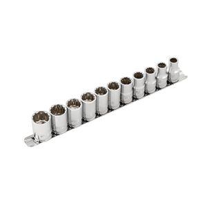 1 2 Inch Drive 12 Point Metric Socket Set 11 Piece