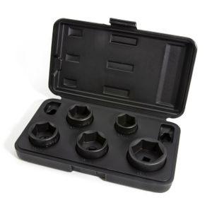 5-Piece 3/8-Inch Drive Low Profile Oil Filter Socket Set