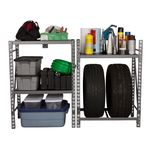 Thumbnail - 6 25 Foot Tall Narrow 3 Shelf Storage Rack - 71