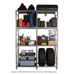 Thumbnail - 6 25 Foot Tall Narrow 3 Shelf Storage Rack - 81