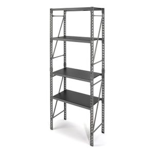 6.25-Foot Tall Narrow 3-Shelf Storage Rack