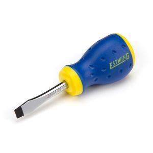 1/4-Inch x 1-3/4-Inch Magnetic Slotted Tip Stubby Screwdriver with Ergonomic Handle