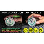 Thumbnail - Dial Type Color Coded Tread Depth Gauge - 61