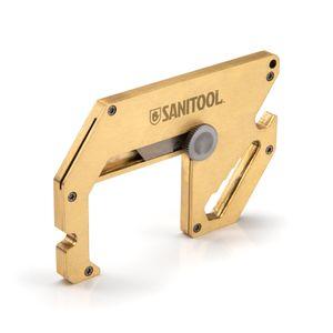 Brass Door Opener Multi-Tool with Retractable Utility Blade