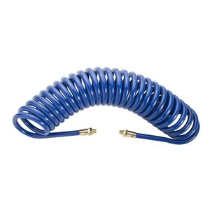 25-Foot 1/4-Inch by 3/8-Inch NPT Coil Poly Hose with Rigid Reusable Fittings