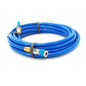 25-Foot Straight Air Hose with Reusable Quick Disconnect Fittings