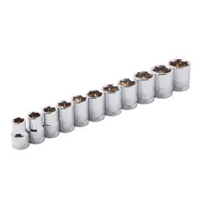 11 Piece 3 8 Inch Drive Metric 6 Point Chrome Socket Set