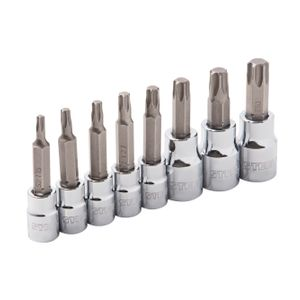 8-Piece 1/4-Inch and 3/8-Inch Drive Star Bit Socket Set