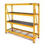 Thumbnail - 72 in H x 77 in W x 24 in D 4 Shelf Industrial Storage Rack - 01