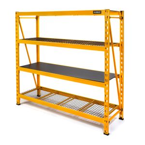 72 in H x 77 in W x 24 in D 4 Shelf Industrial Storage Rack