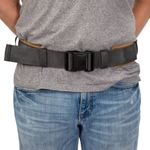 Thumbnail - 3 Inch Padded Work Belt with Quick Release Buckle Gray Tan - 2