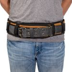 Thumbnail - 5 Inch Padded Work Belt with Double Tongue Roller Buckle Gray Tan - 21