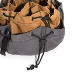 Thumbnail - 12 Pocket Drawstring Tool Organizer Bag Gray Tan - 3