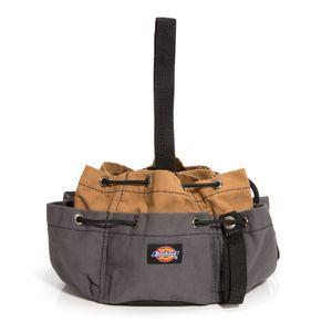 12-Pocket Drawstring Tool Organizer Bag, Gray / Tan