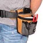 Thumbnail - Tool Belt Tool Pouch with Zipper Pocket Gray Tan - 3