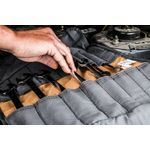 Thumbnail - Small Wrench Tool Organizer Roll Gray Tan - 6