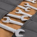 Thumbnail - Small Wrench Tool Organizer Roll Gray Tan - 2