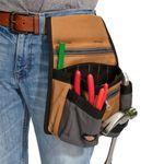 Thumbnail - 11 Pocket Tool Belt Pouch Gray Tan - 3