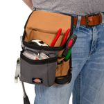 Thumbnail - 8 Pocket Tool and Utility Pouch Gray Tan - 4