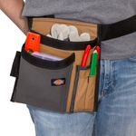 Thumbnail - 5 Pocket Single Side Tool Pouch Work Apron Gray Tan - 3