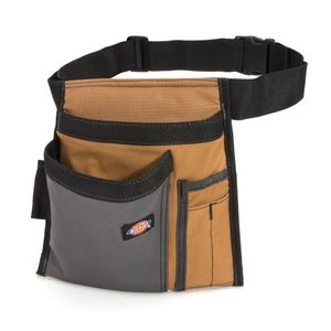 5-Pocket Single Side Tool Pouch / Work Apron, Gray / Tan