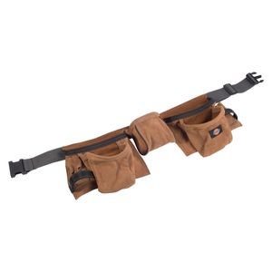 11-Pocket Leather Tool Belt, Tan
