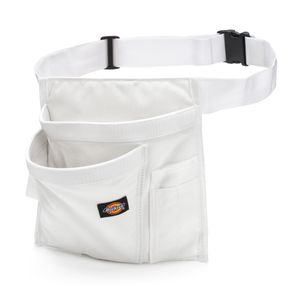 5 Pocket Single Side Tool Pouch Work Apron White