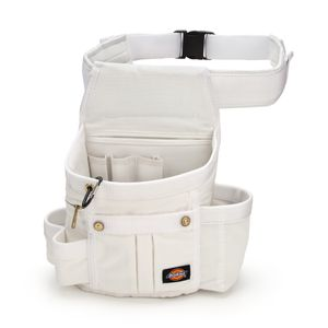 8 Pocket Painter s Utility Pouch with Padded Belt White
