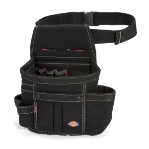 8-Pocket Utility Pouch with Webbed Belt, Black