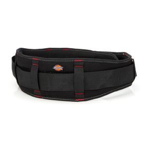 5-Inch Padded Work Belt with Double-Tongue Roller Buckle, Black