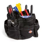 Thumbnail - 12 Pocket Drawstring Tool Organizer Bag Black - 1